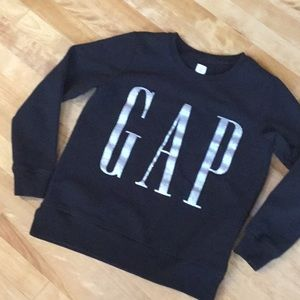 Gap black sweatshirt with silver letters size S